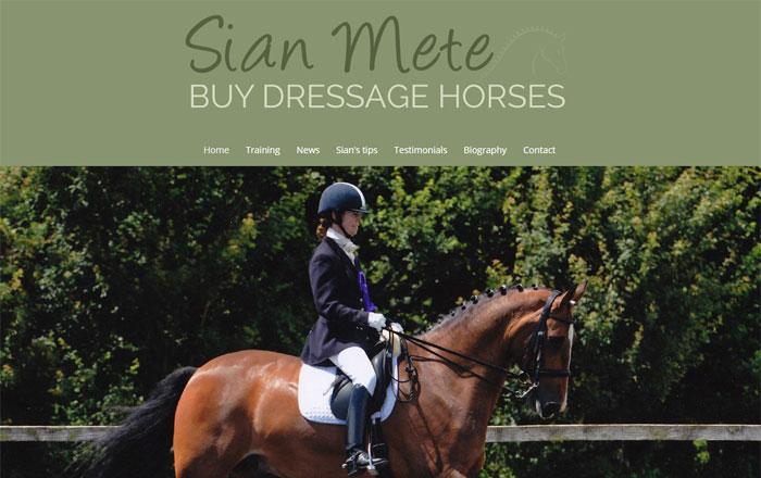 Sian Mete Dressage Horses