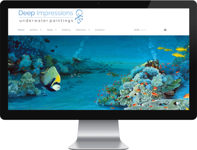 Website Design Deep Impressions Underwater Art