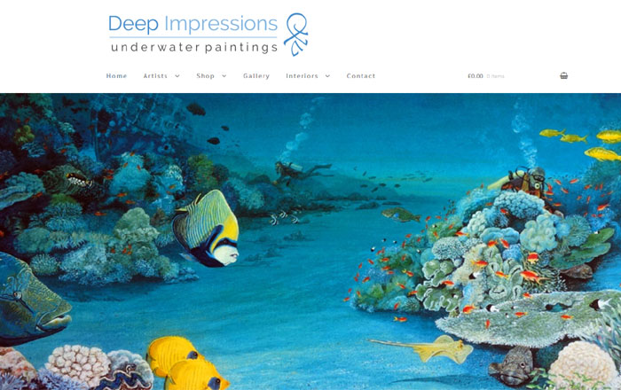 Deep Impressions Underwater Paintings