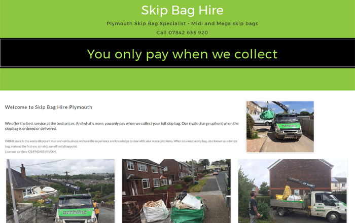 Skip Dumpy Bag Hire Plymouth
