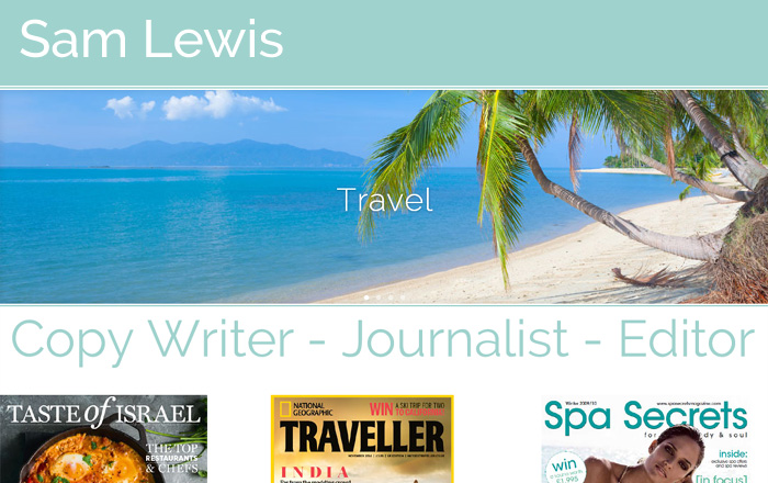 Samantha Lewis Travel Writer